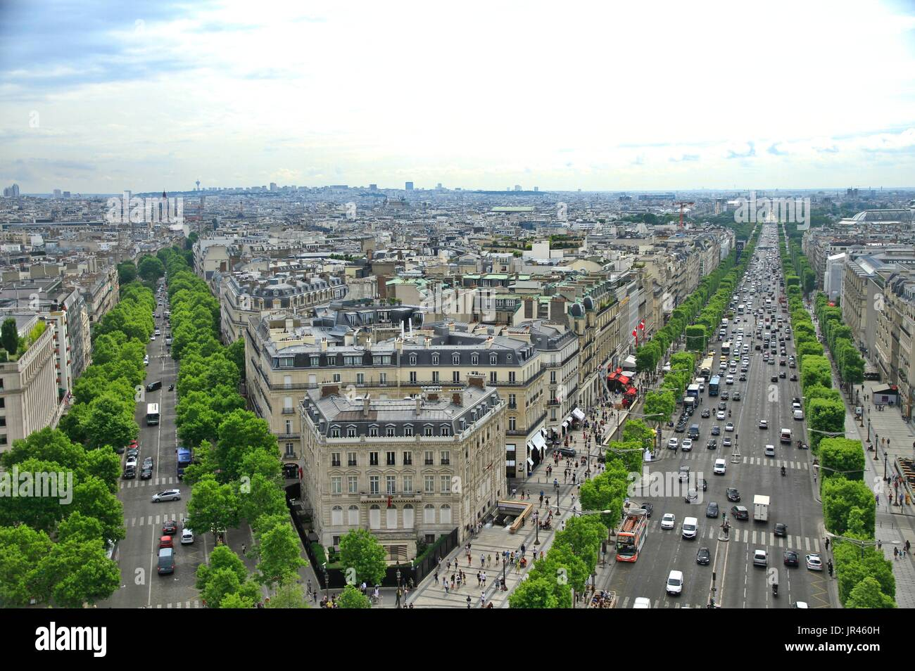 Paris France Green Neighborhood Housing Stockfotos & Paris France ...