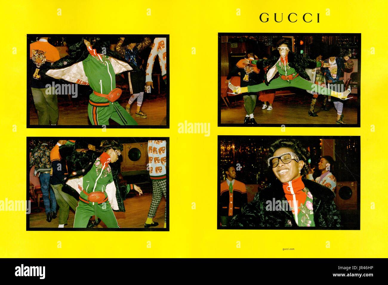 dbb31f98cbbc 2010er Jahre UK Gucci Magazin Anzeige Stockfoto, Bild  151913042 - Alamy