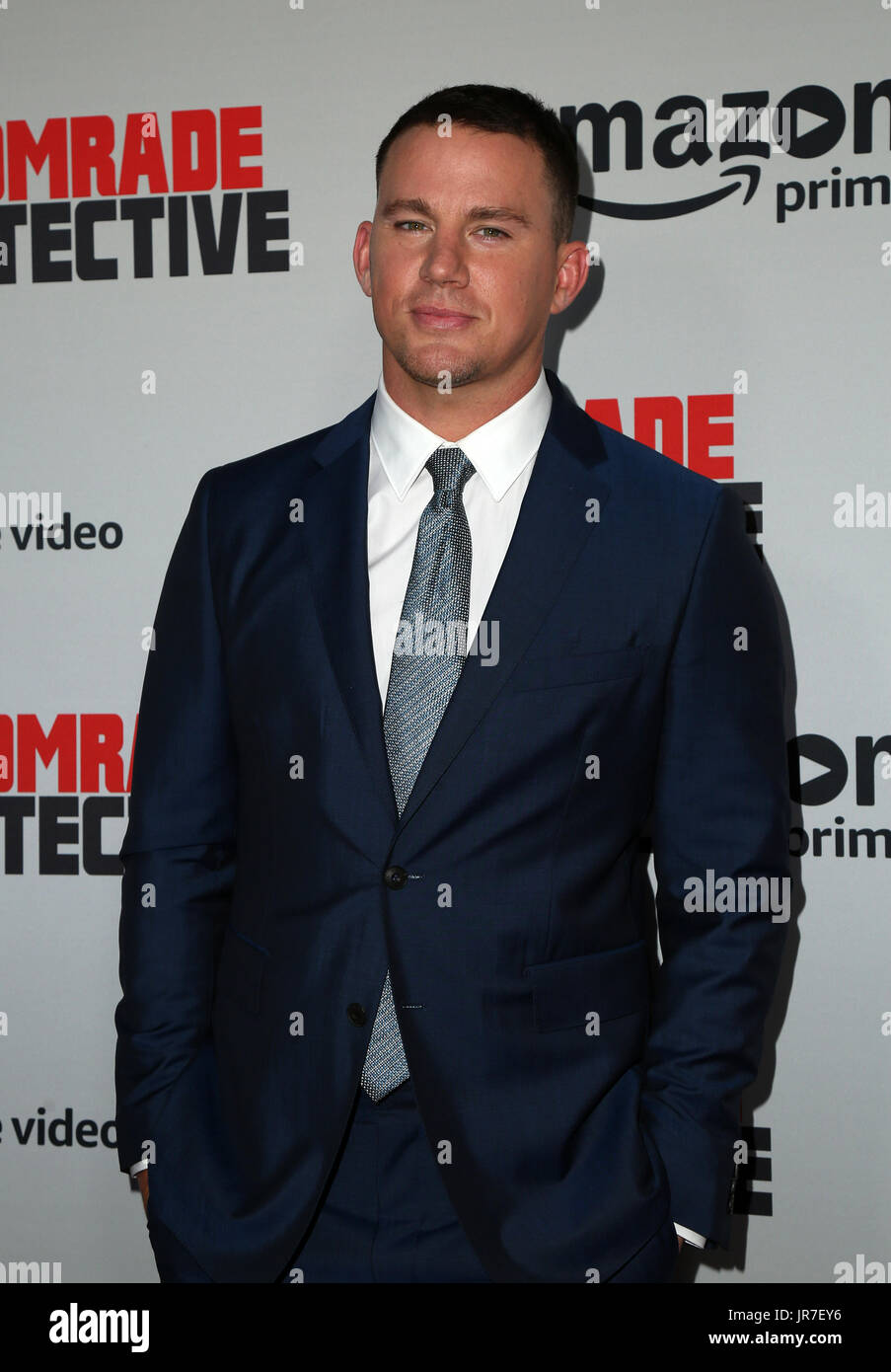 "Hollywood, Ca. 3. August 2017. Channing Tatum, bei Premiere von Amazons ""Genosse Detective' im ArcLight Hollywood In Kalifornien am 3. August 2017. Bildnachweis: Fs/Medien Punch/Alamy Live-Nachrichten Stockbild"