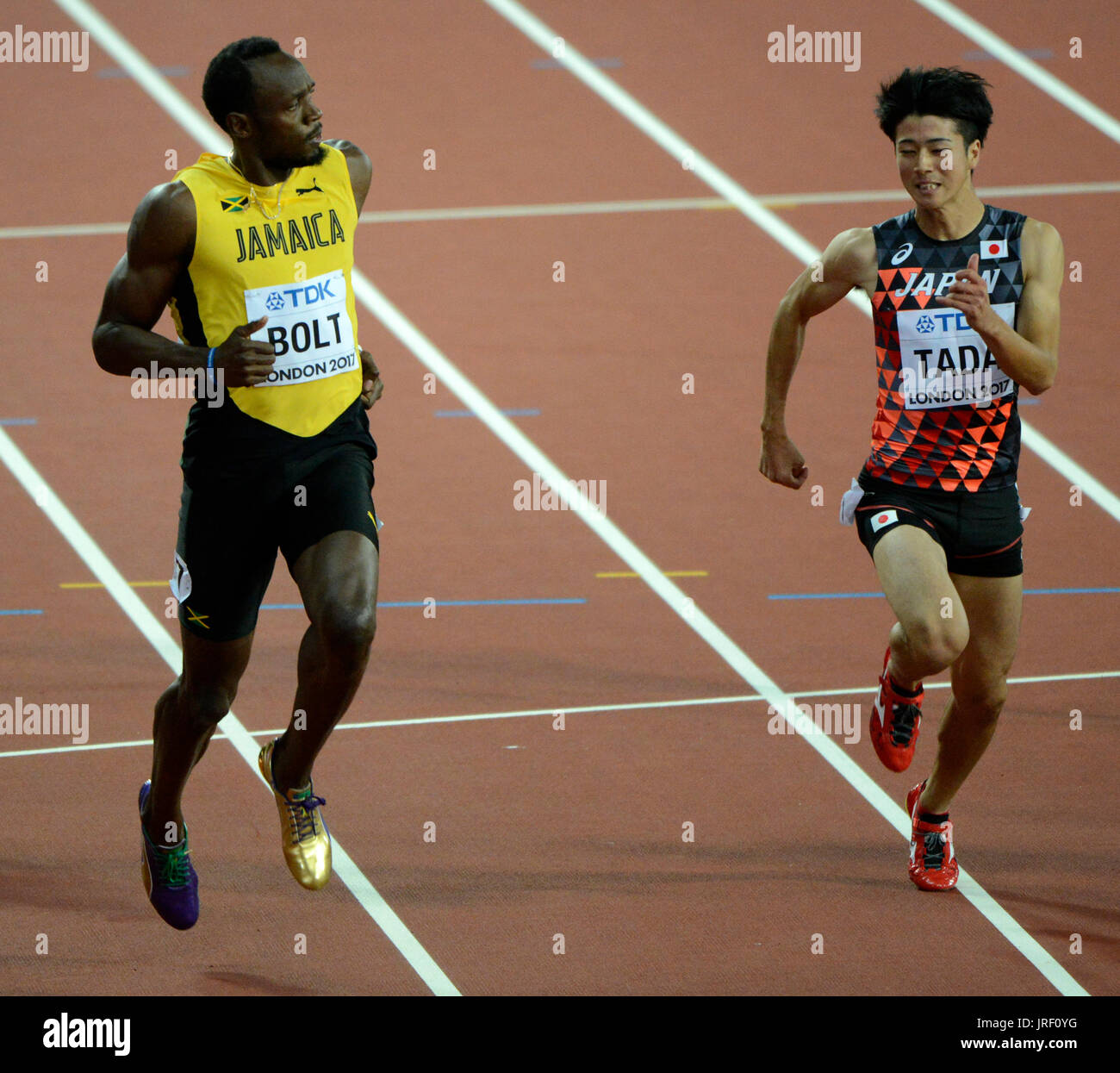 Usain Bolt - IAAF World Championships London 2017 Stockbild
