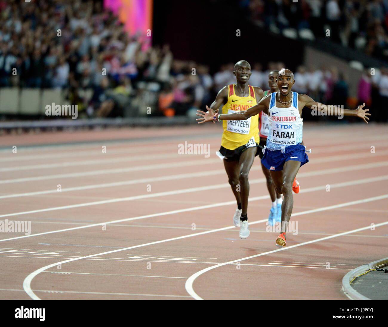 Mo Farah - IAAF World Championships London 2017 Stockbild