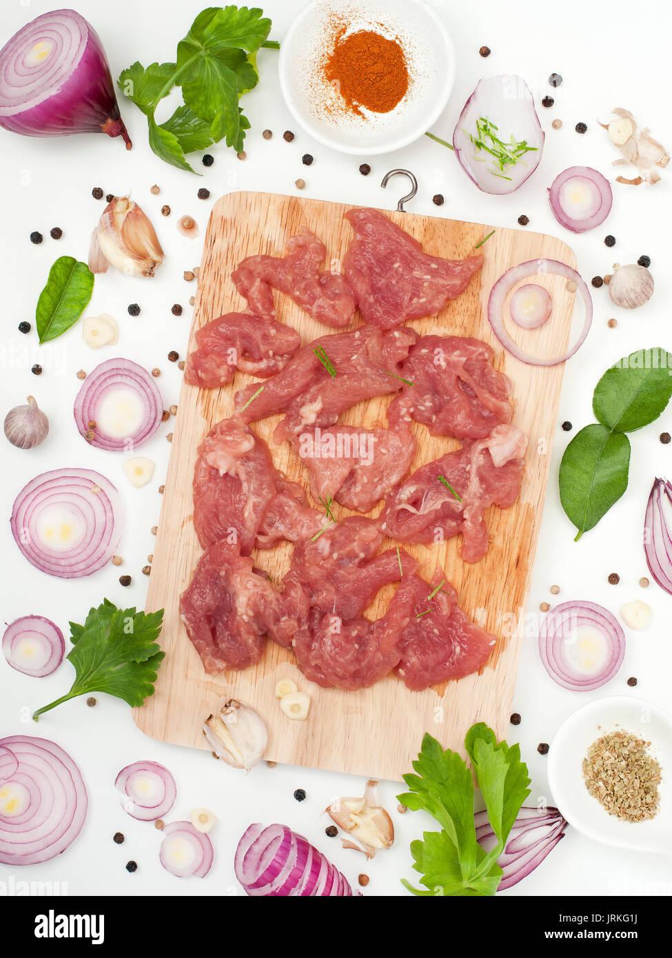 Kraut mariniertes Schweinefleisch mit Sesam leckere und Duft asiatische Lebensmittel Stil Stockbild