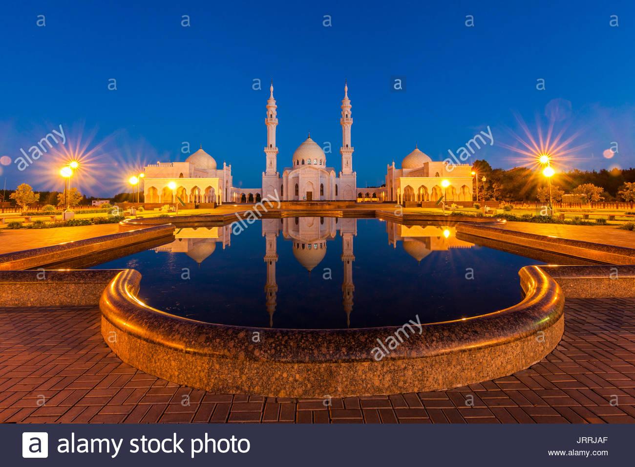 Weiße Moschee in der Bulgarischen Bolghar, Bolgar, Tatarstan, Russland Stockbild