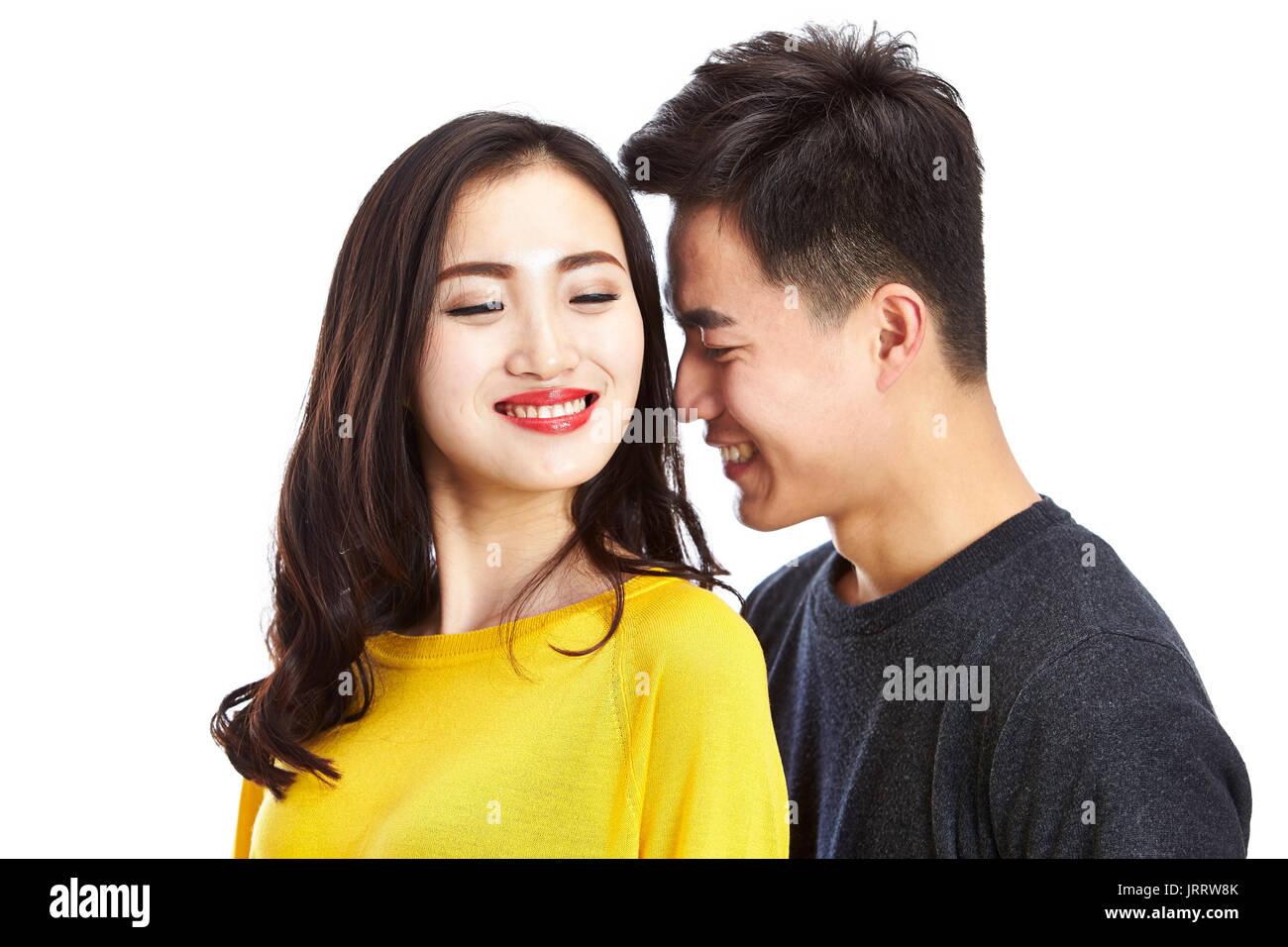 weißes asiatisches homosexuelles Paar