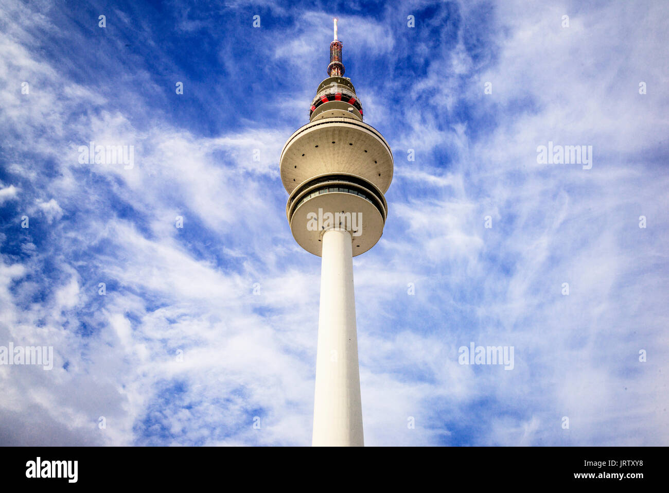 Fernsehturm in Hamburg, Deutschland Stockbild