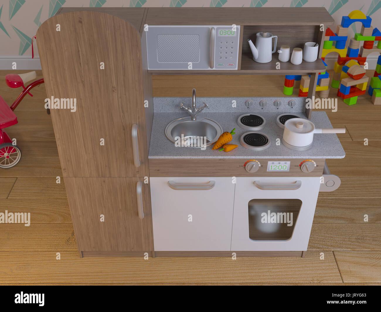 Kinder Küche design interieur für das Kochen so tun, als Spiel mit ...