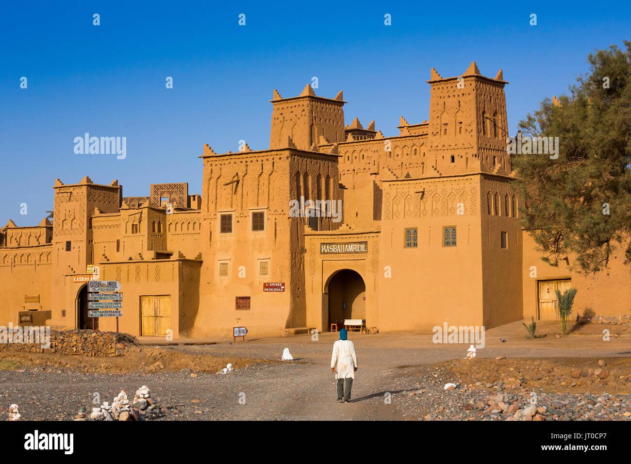 Hotel Kasbah Amridil, Dades Tal, Skoura. Marokko, Maghreb Nordafrika Stockbild