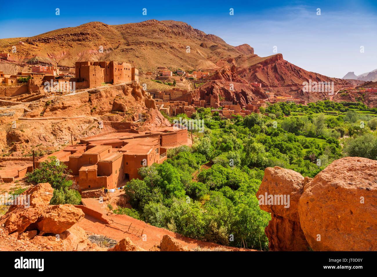 Dades Tal, Dades Schluchten, Hohen Atlas. Marokko, Maghreb Nordafrika Stockbild