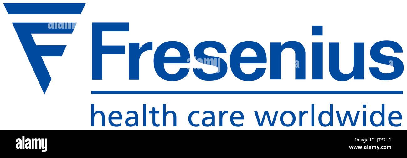 Fresenius, Gesundheitswesen, Healthcare Company, Firmenlogo, DAX 30-Unternehmen Stockbild