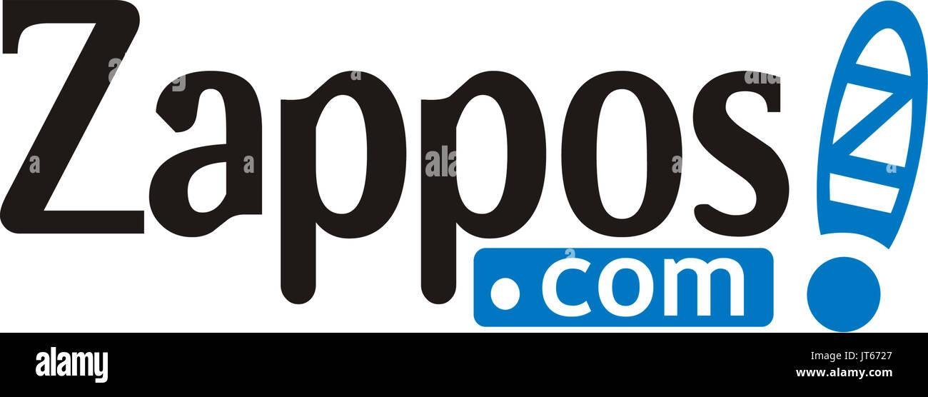 Zappos, online Versand, Schuhe und Mode, Firmenlogo Stockbild