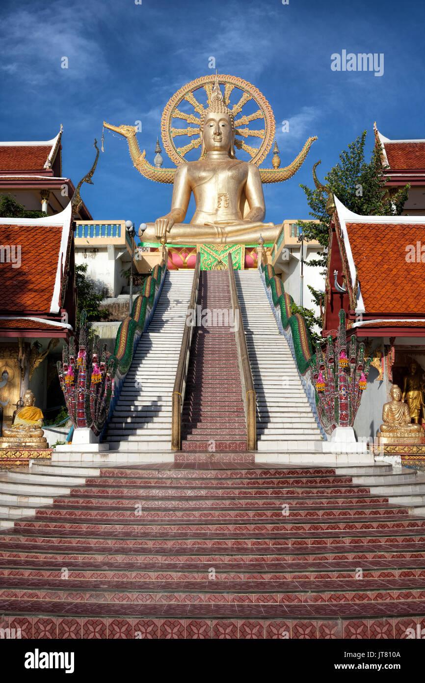 Big Buddha Tempel oder Wat Phra Yai in Kho Samui, Thailand Stockbild
