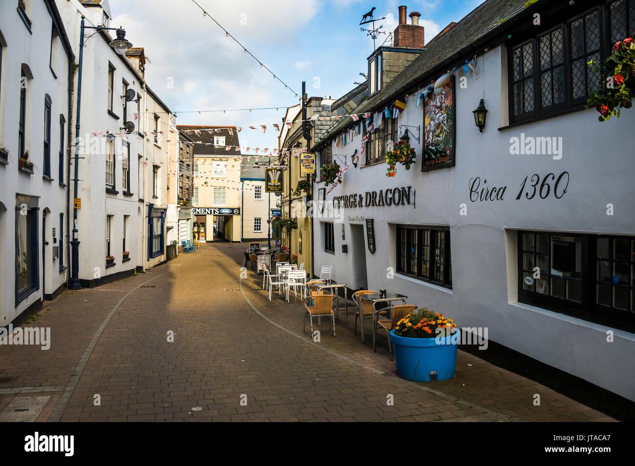 Malerische Hafenstadt Ifracombe, North Devon, England, Vereinigtes Königreich, Europa Stockbild