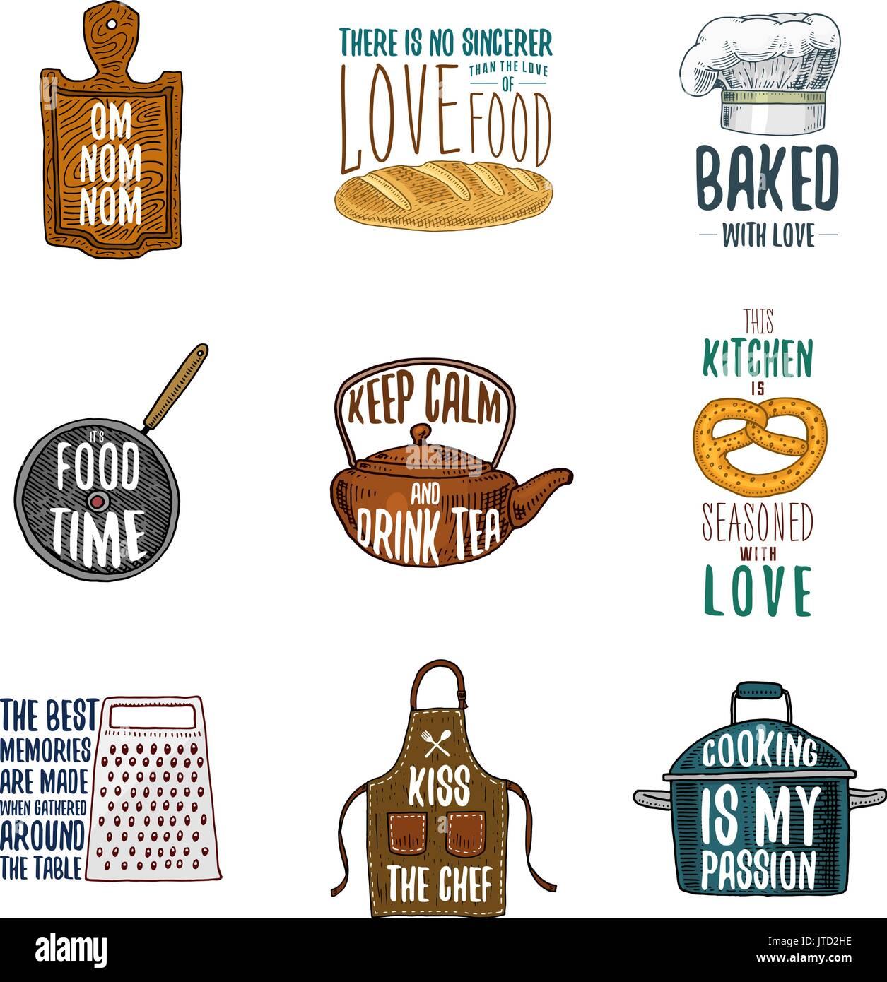 Kochtopf Material schürze und kochtopf bagel und holzbrett mit kapuze pan und