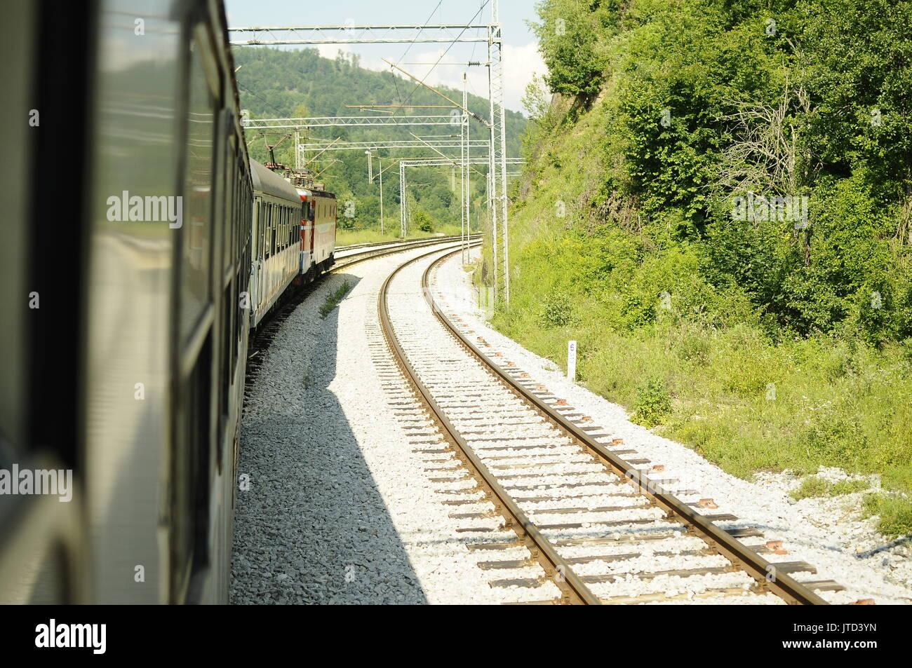 Der öffentliche Verkehr in Serbia-Transport öffentlichen en Serbie Stockbild