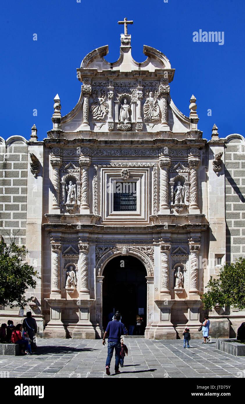 Amerika; Mexiko; Zacatecas; Jerez Stadt; Kirche der Unbefleckten Empfängnis Stockbild