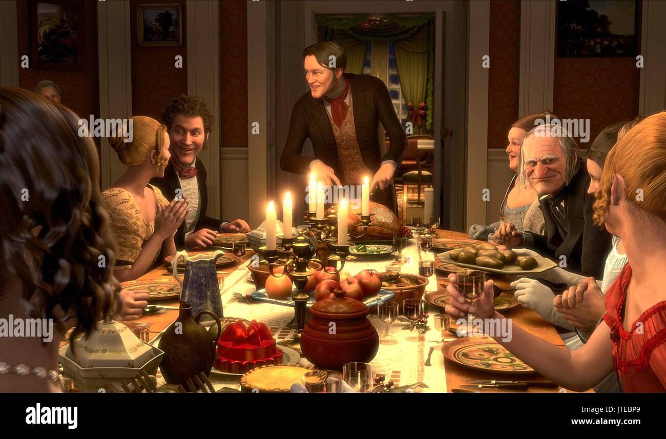 FRED & EBENEZER SCROOGE A CHRISTMAS CAROL (2009 Stockfoto, Bild ...