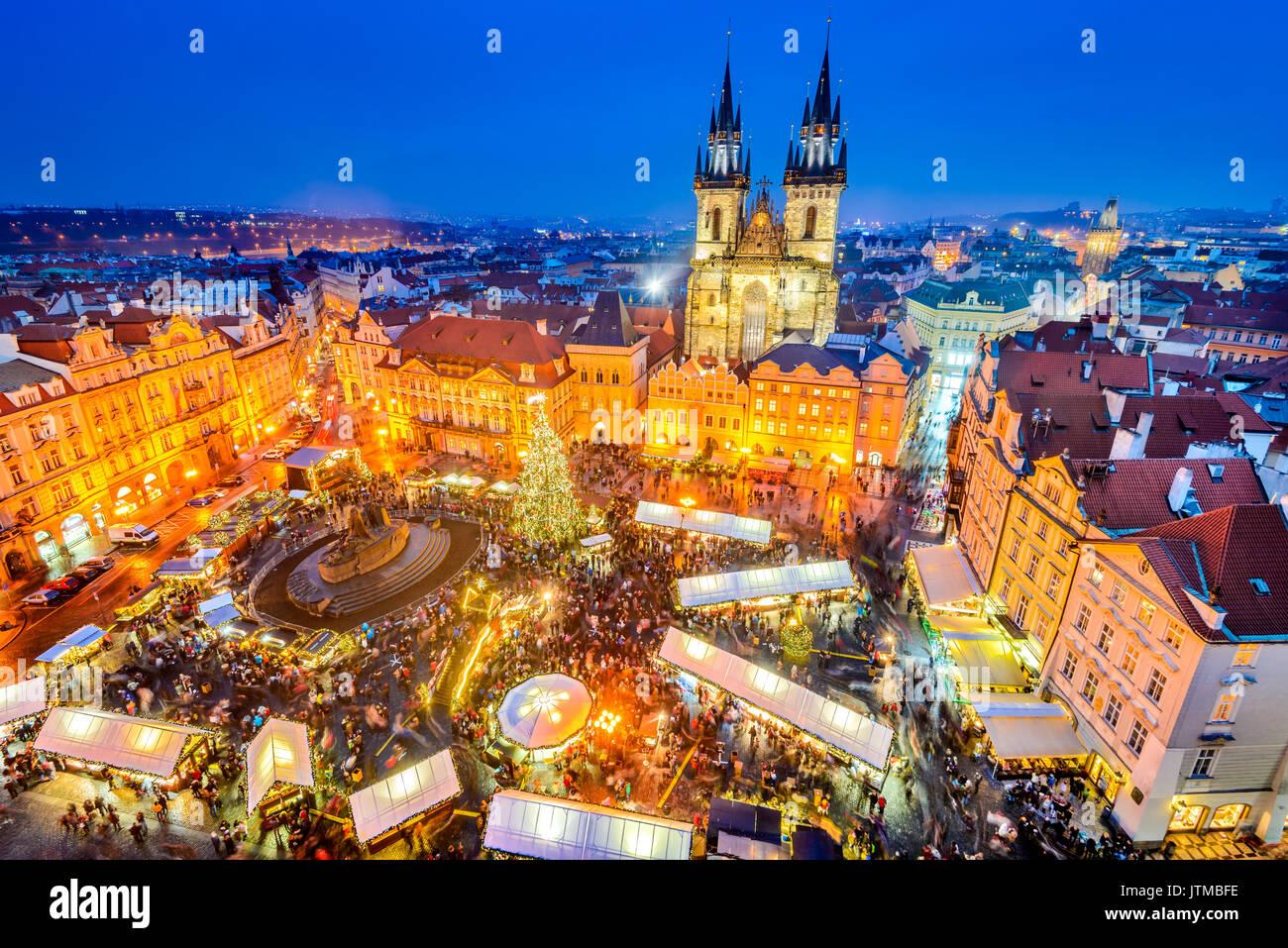 prag tschechische republik weihnachtsmarkt in stare. Black Bedroom Furniture Sets. Home Design Ideas