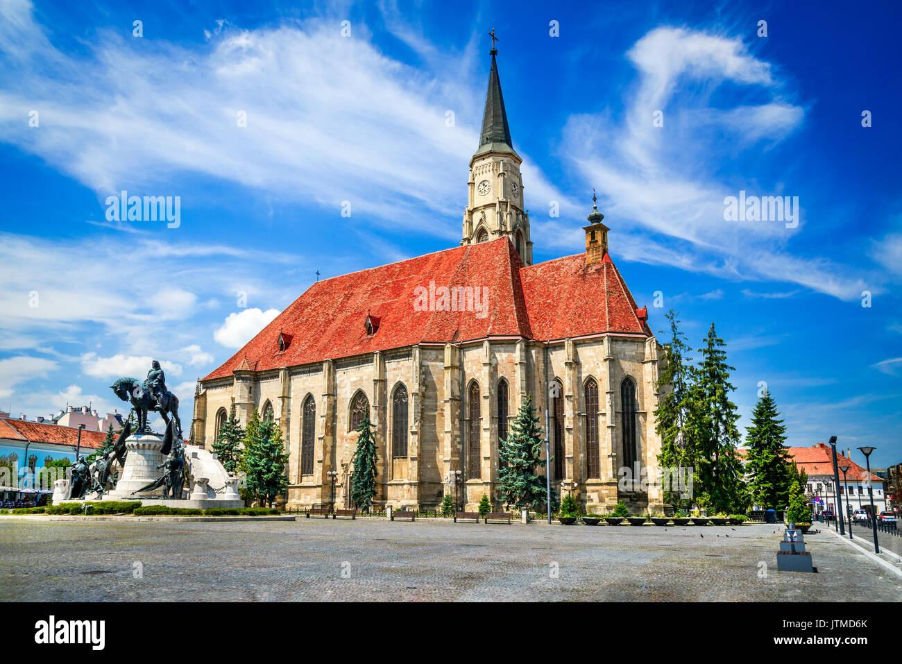 Cluj, Rumänien. Mittelalterliche Kirche St. Michael und