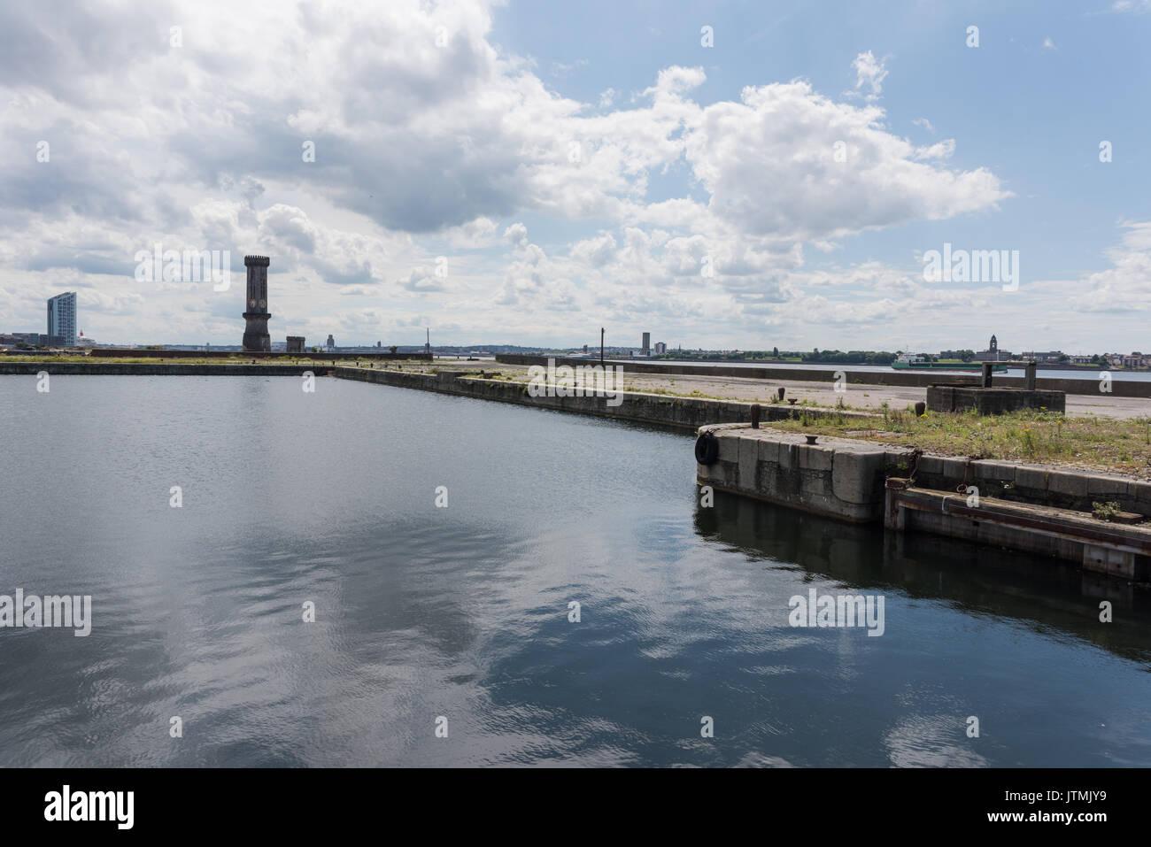 Bramley Moore Dock, Liverpool. Lage des neuen Everton FC-Stadion, die sich von ihren Goodison Park Lage. Stockfoto