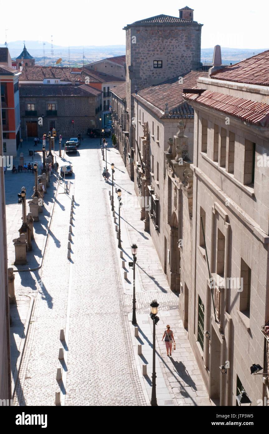 Cathedral Square, Blick von oben. Avila, Spanien. Stockbild