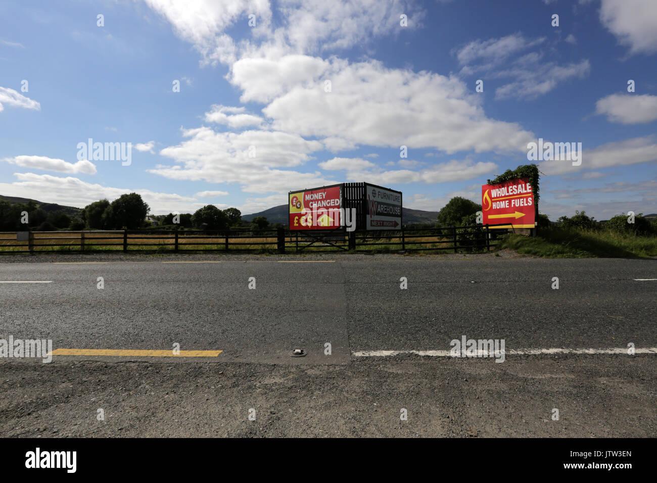Newry nordirland august ein zeichen für den umtausch