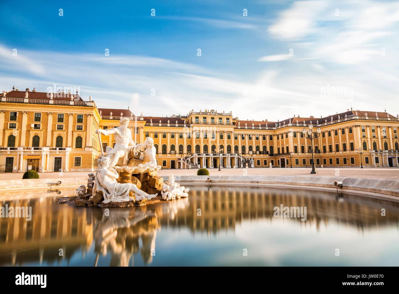Schönen Schloss Schönbrunn in Wien, Österreich Stockbild