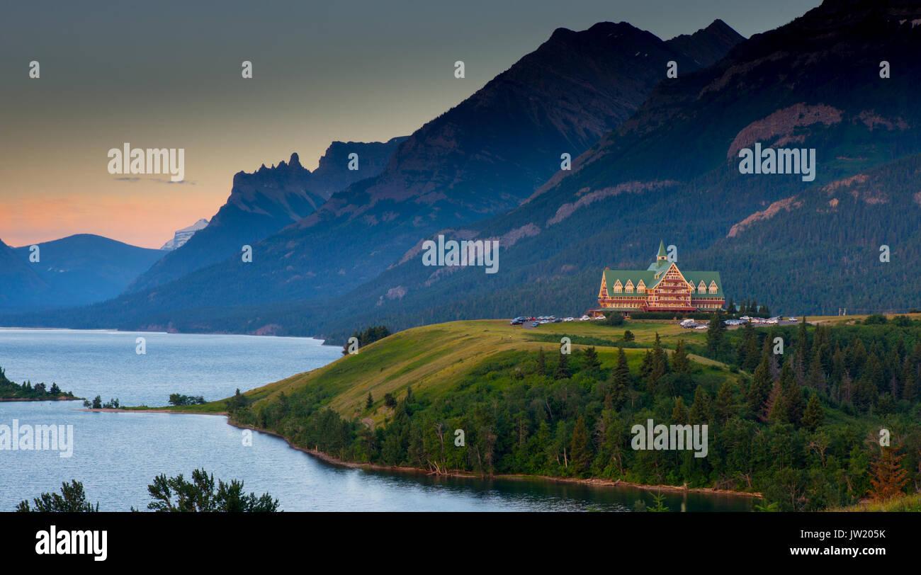 Prince of Wales Hotel in Waterton Lakes National Park Kanada Stockfoto