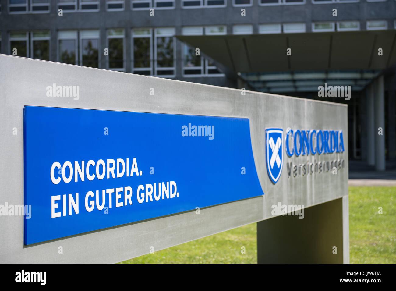 Hannover Deutschland 09 Aug 2017 Das Logo Der Concordia