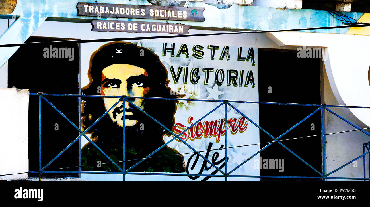 Artwork von Che Guevara, Vinales, Kuba Stockbild