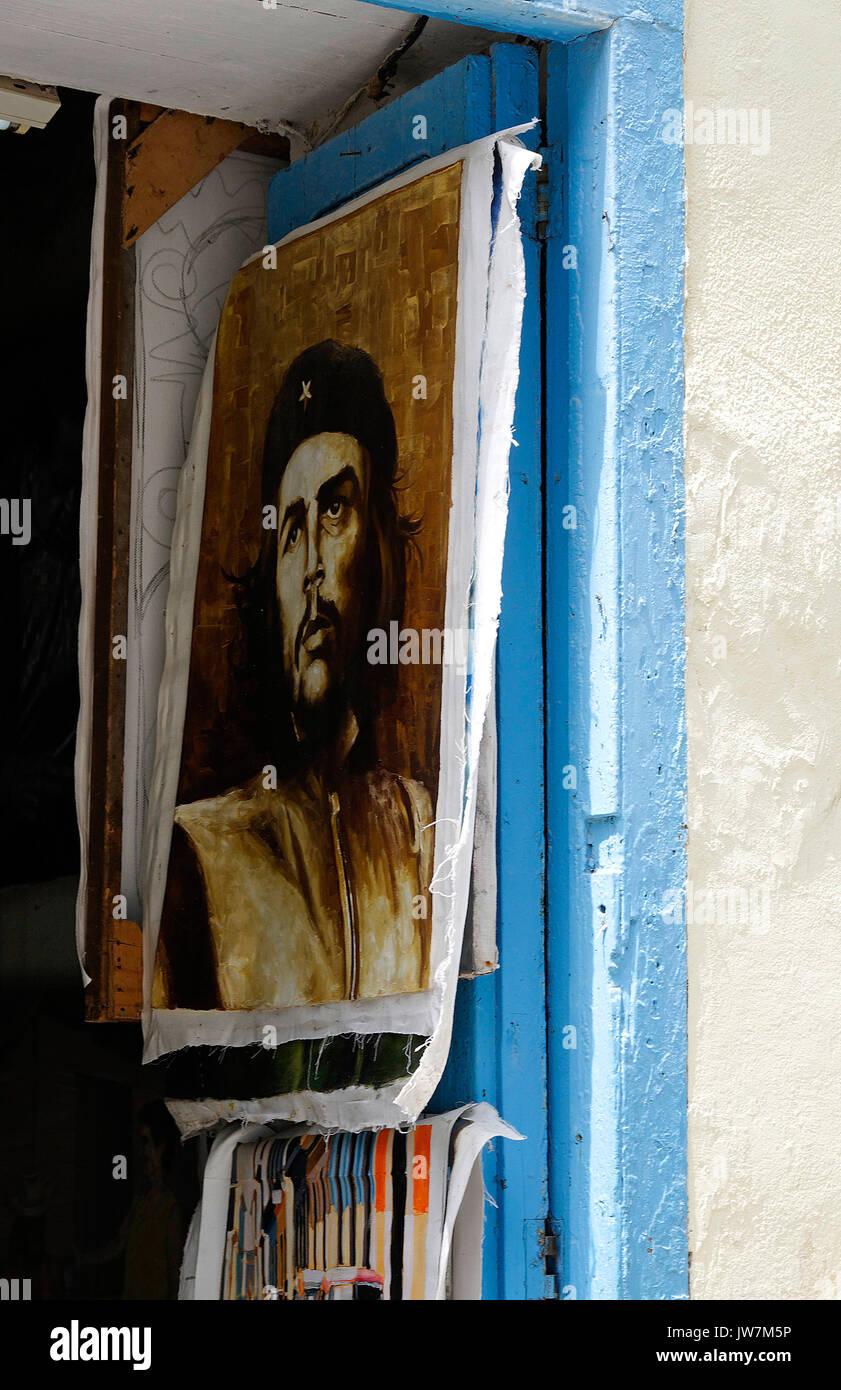 Che Guevara Malerei, Kunst Shop, Havanna, Kuba Stockbild