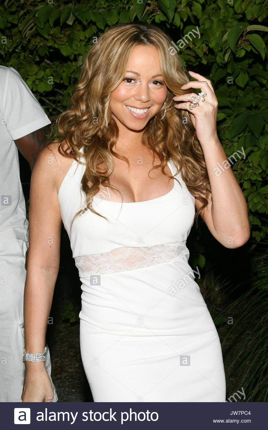 Mariah Carey an Sean \'Diddy\' Combs berühmten weißen Partei an seinem ...