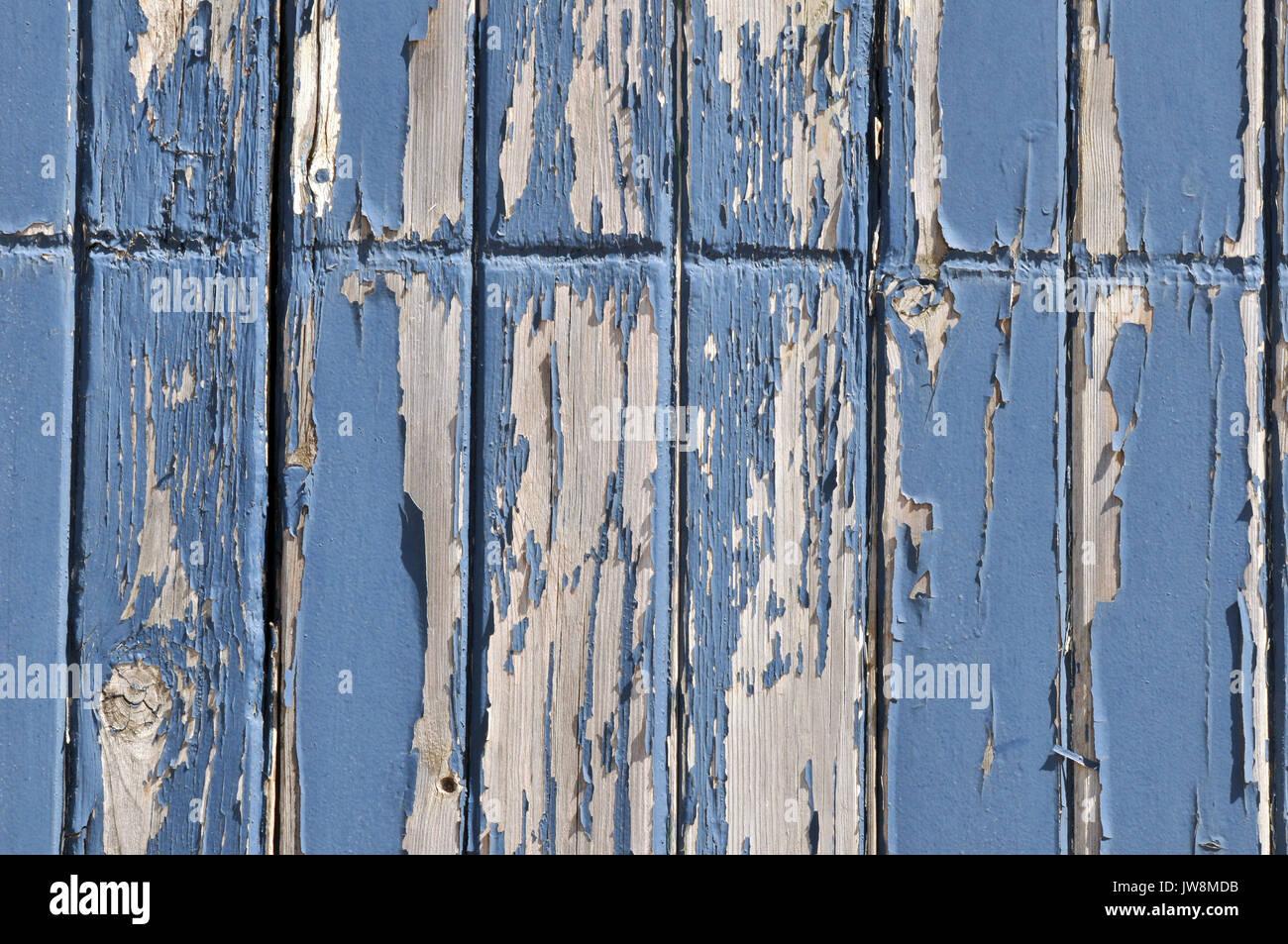 ein shabby chic bemalte holzplatte in einem pulver blau farbe