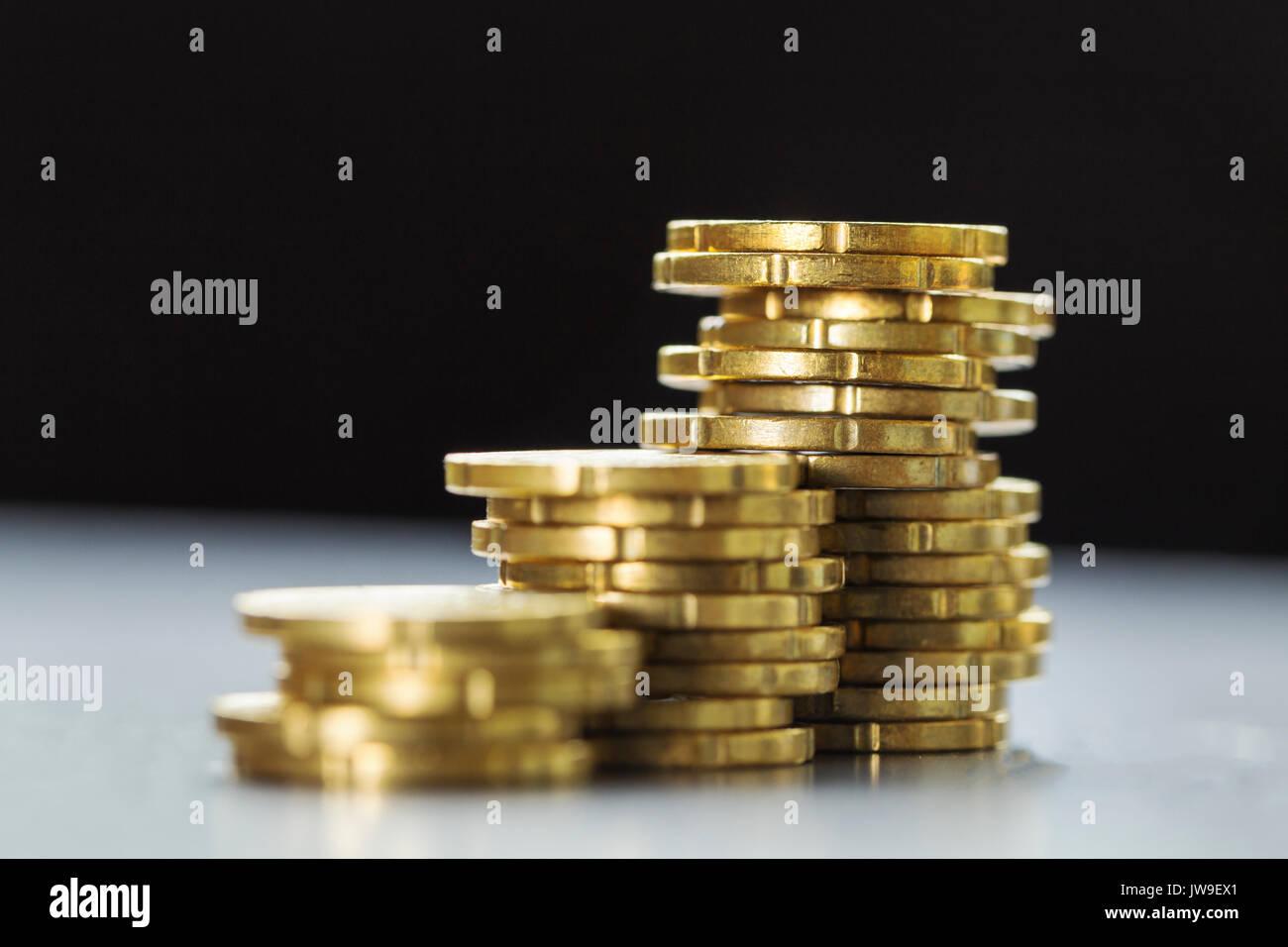 Gold Glänzend 20 Euro Cent Münzen Stockfoto Bild 153258617 Alamy
