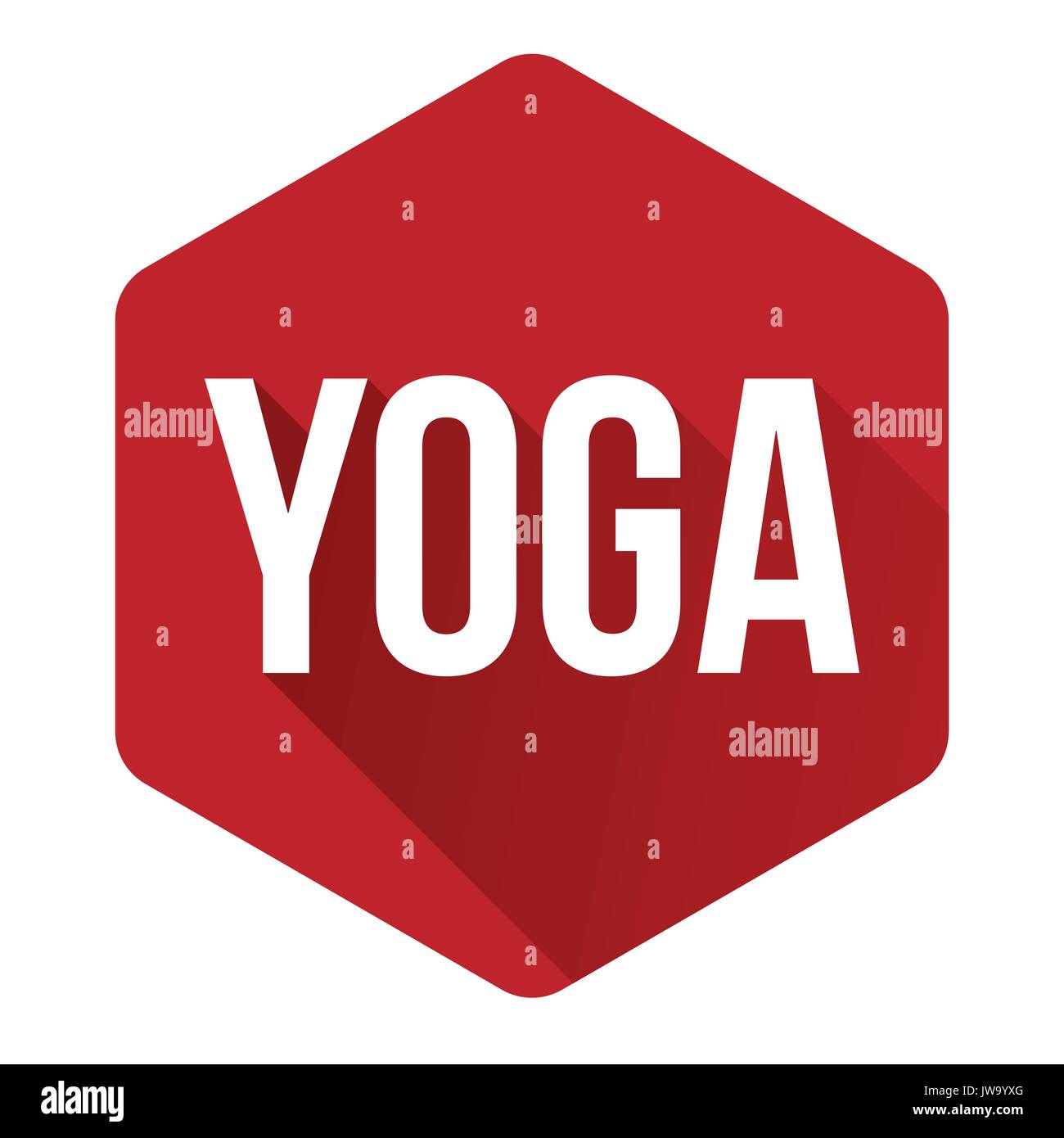 Yoga Zeichen Taste Rot Vektor Abbildung Bild 153268824 Alamy