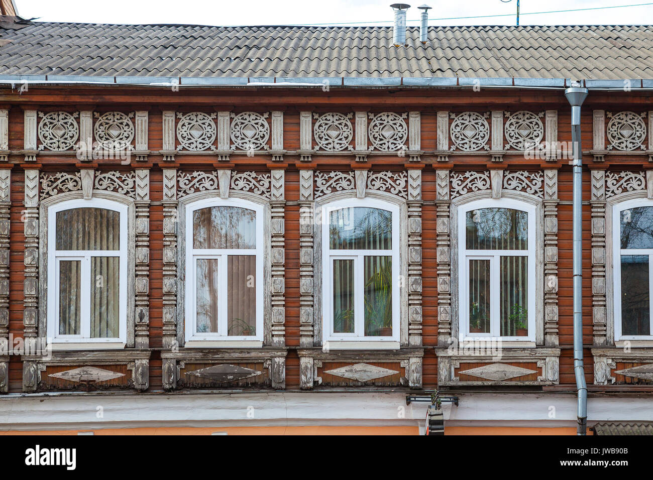 Traditional Russian Wooden House Stockfotos & Traditional Russian ...