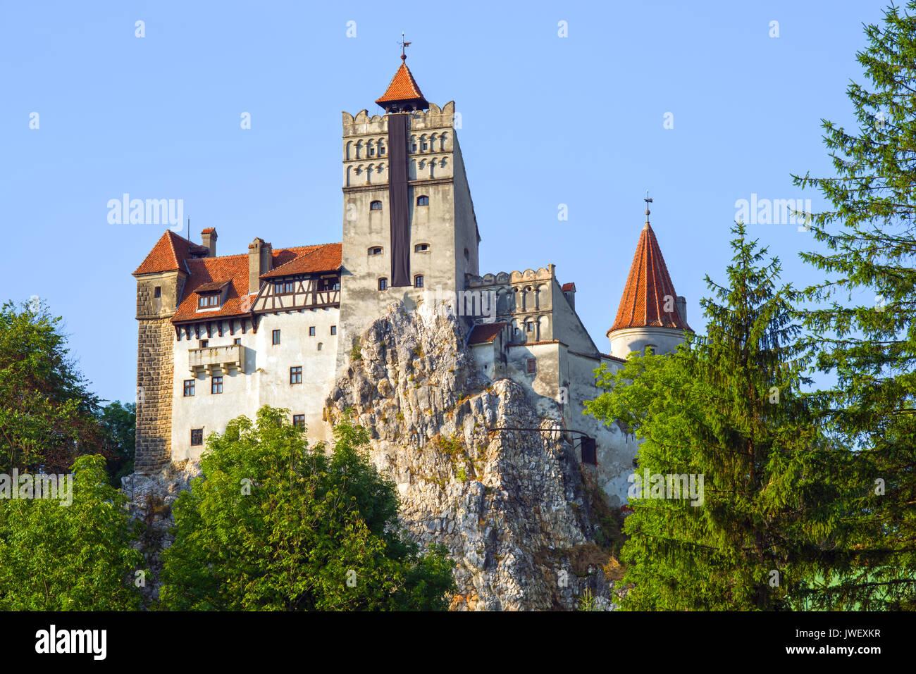 Geheimnisvollen Ort in Siebenbürgen: Dracula's Land, Schloss Bran. Es wurde im 14. Jahrhundert von Sachsen von Kronstadt. Stockbild