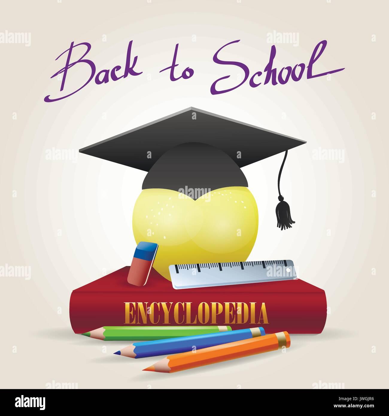 Zurück zu Schule design Vorlage mit Apfel der Erkenntnis in Bachelor ...