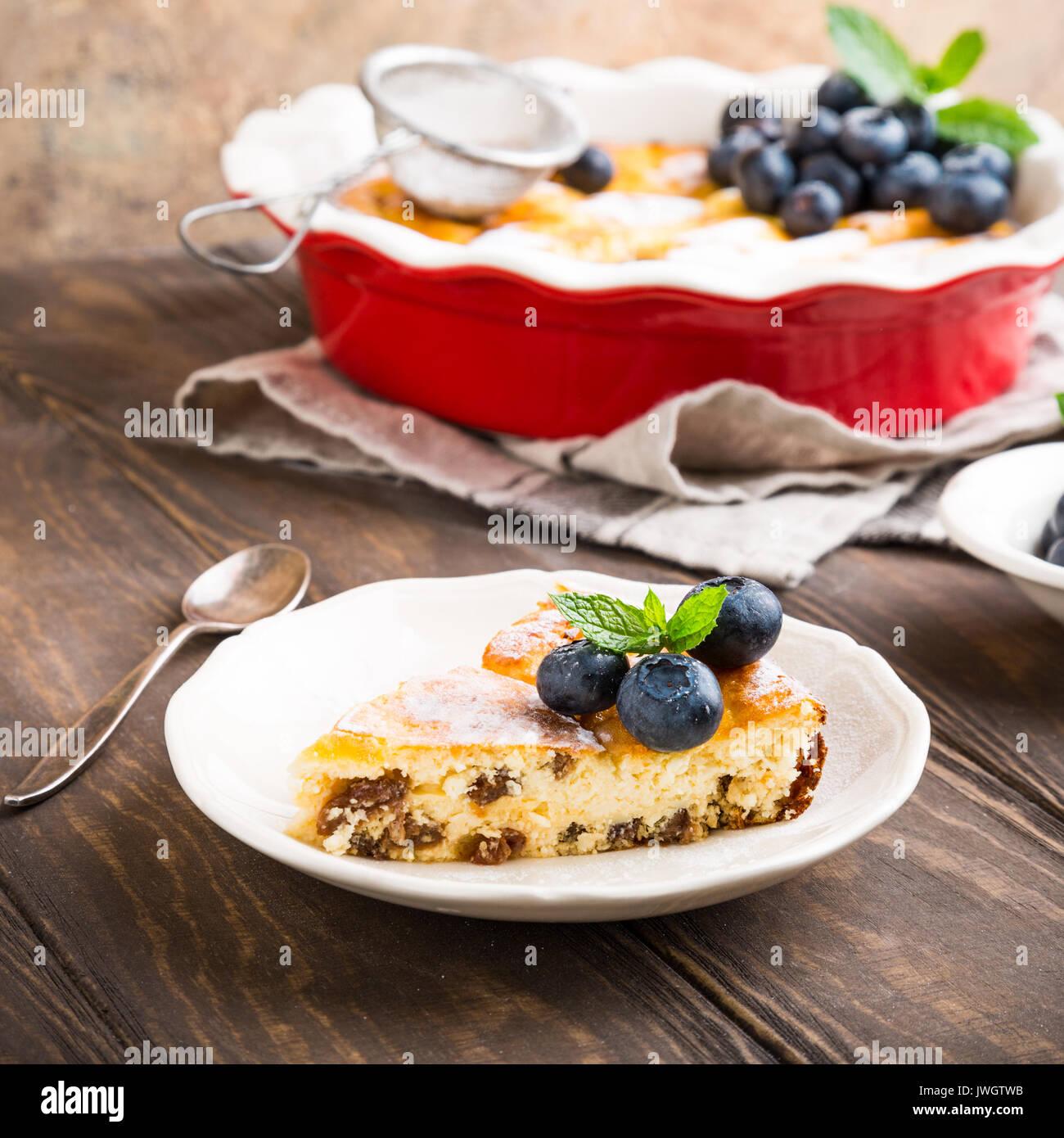 Köstliche hausgemachte Käsekuchen Stockbild