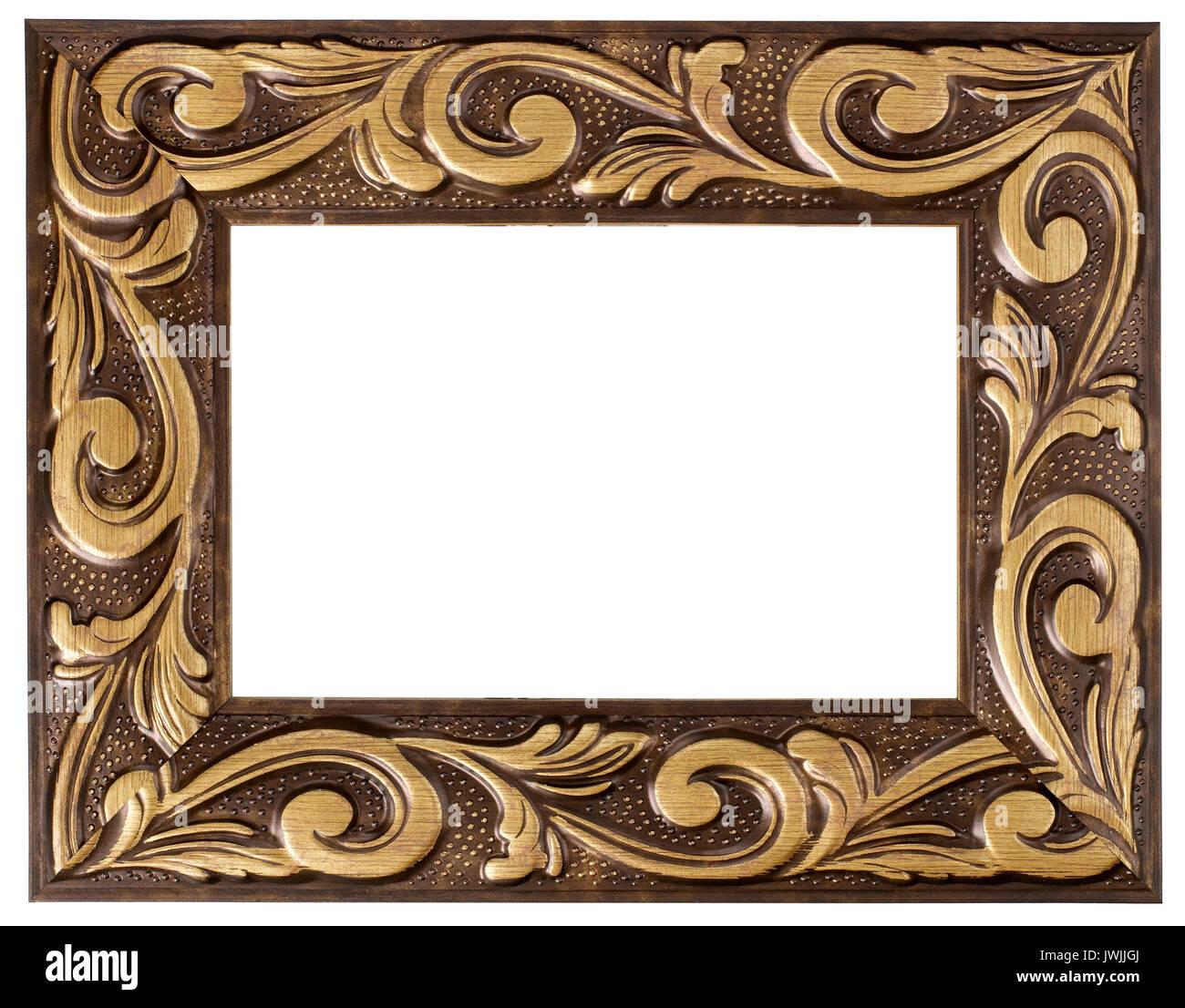 gold bemalt bilderrahmen stockfoto, bild: 153459058 - alamy
