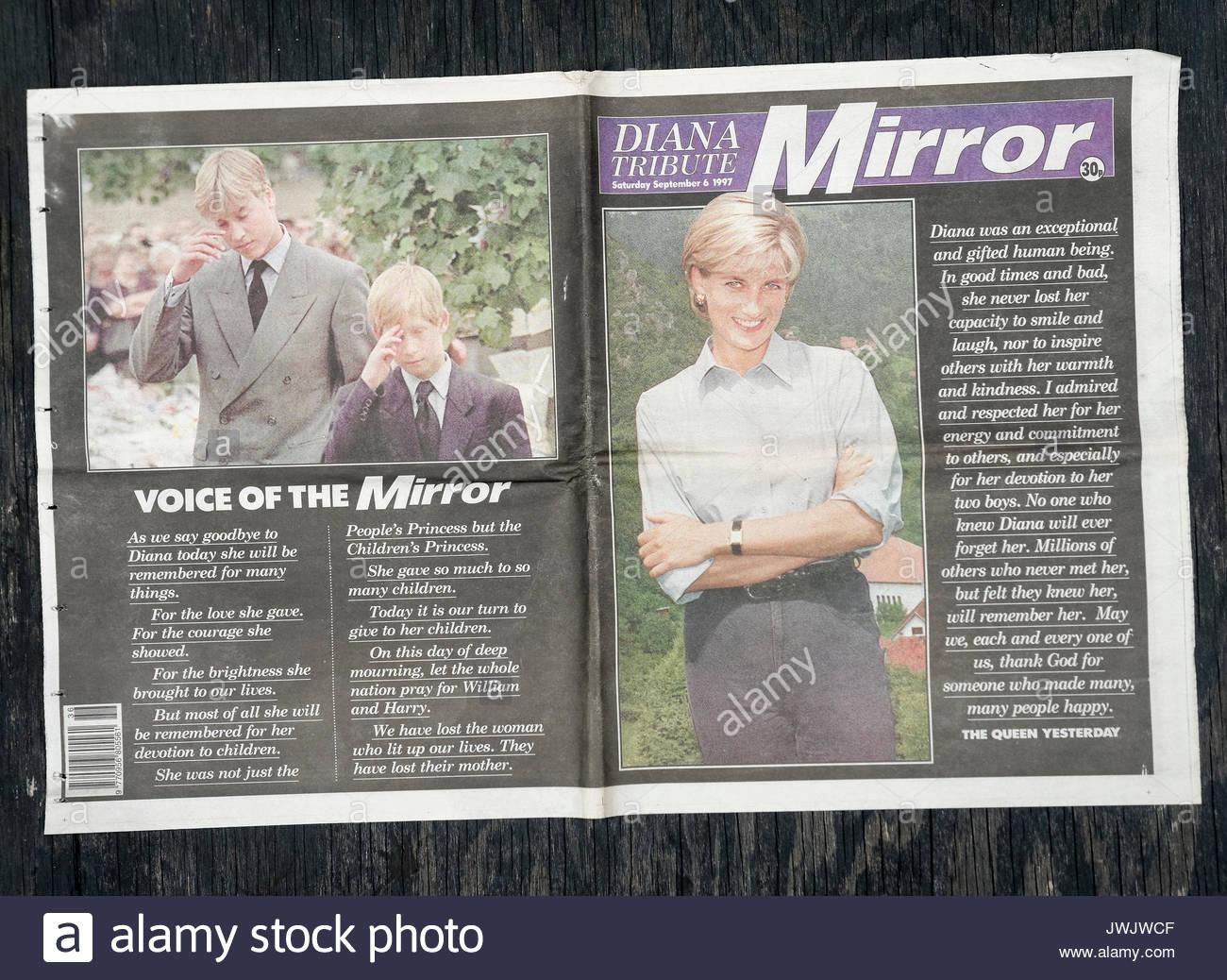Diana princess of wales stockfotos diana princess of for Zeitung der spiegel