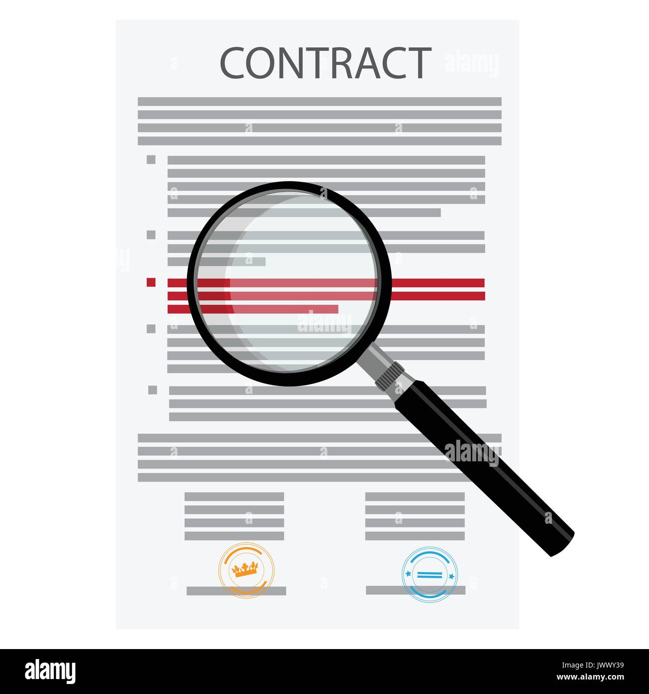 Vector Illustration der unterzeichneten Vertrag, Vereinbarung Symbol ...