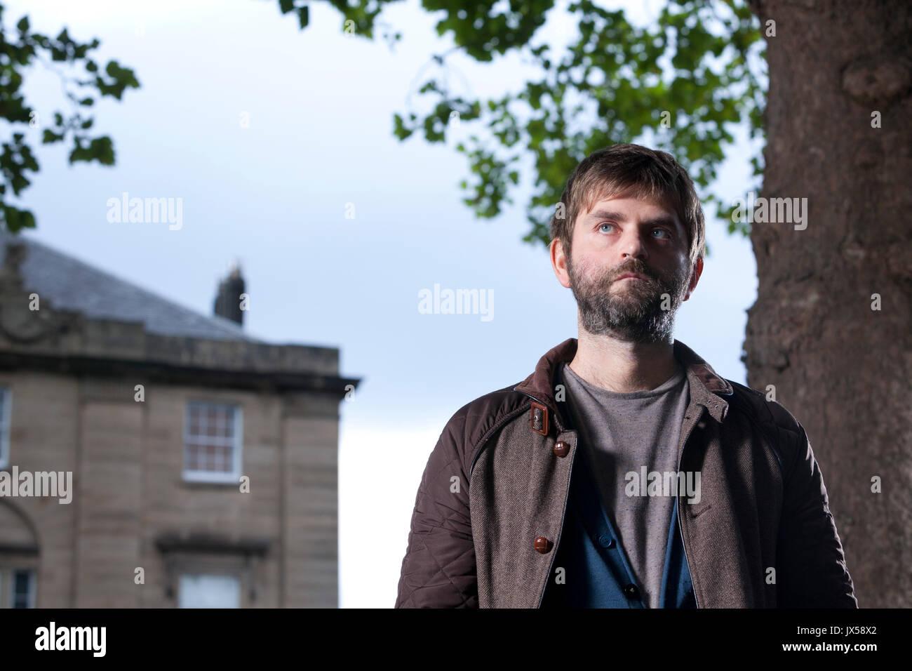 Edinburgh, Großbritannien. 14. August 2017. Martin MacInnes, der schottische Schriftsteller, beim Edinburgh International Stockfoto