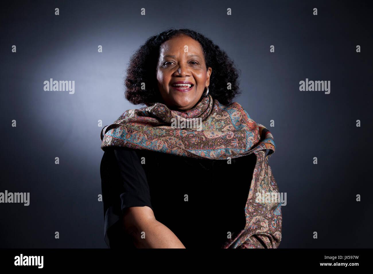 Edinburgh, Großbritannien. 14. August 2017. Lorna Goodison, die jamaikanischen Dichter, beim Edinburgh International Stockfoto