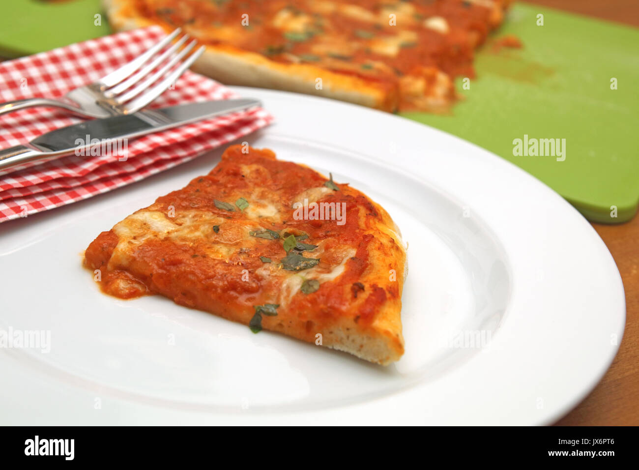 Pizza Margherita Stockbild