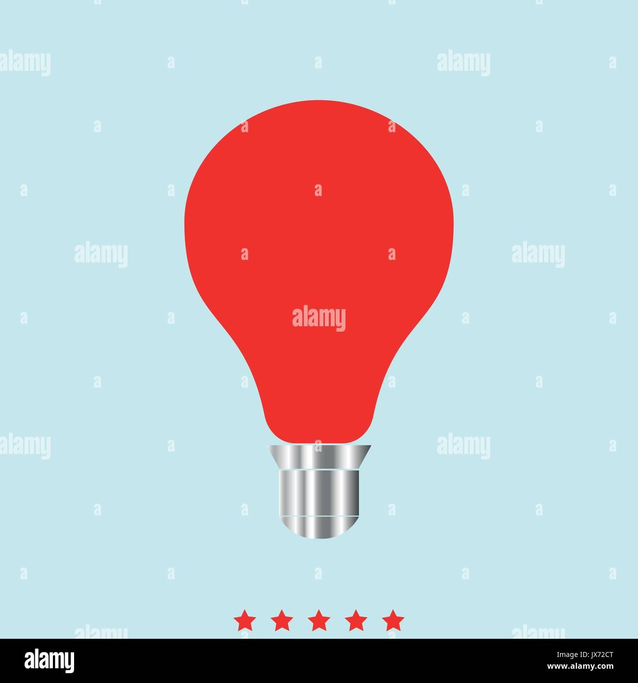 Glühlampe es Farbe Symbol. Einfache Stil Vektor Abbildung - Bild ...