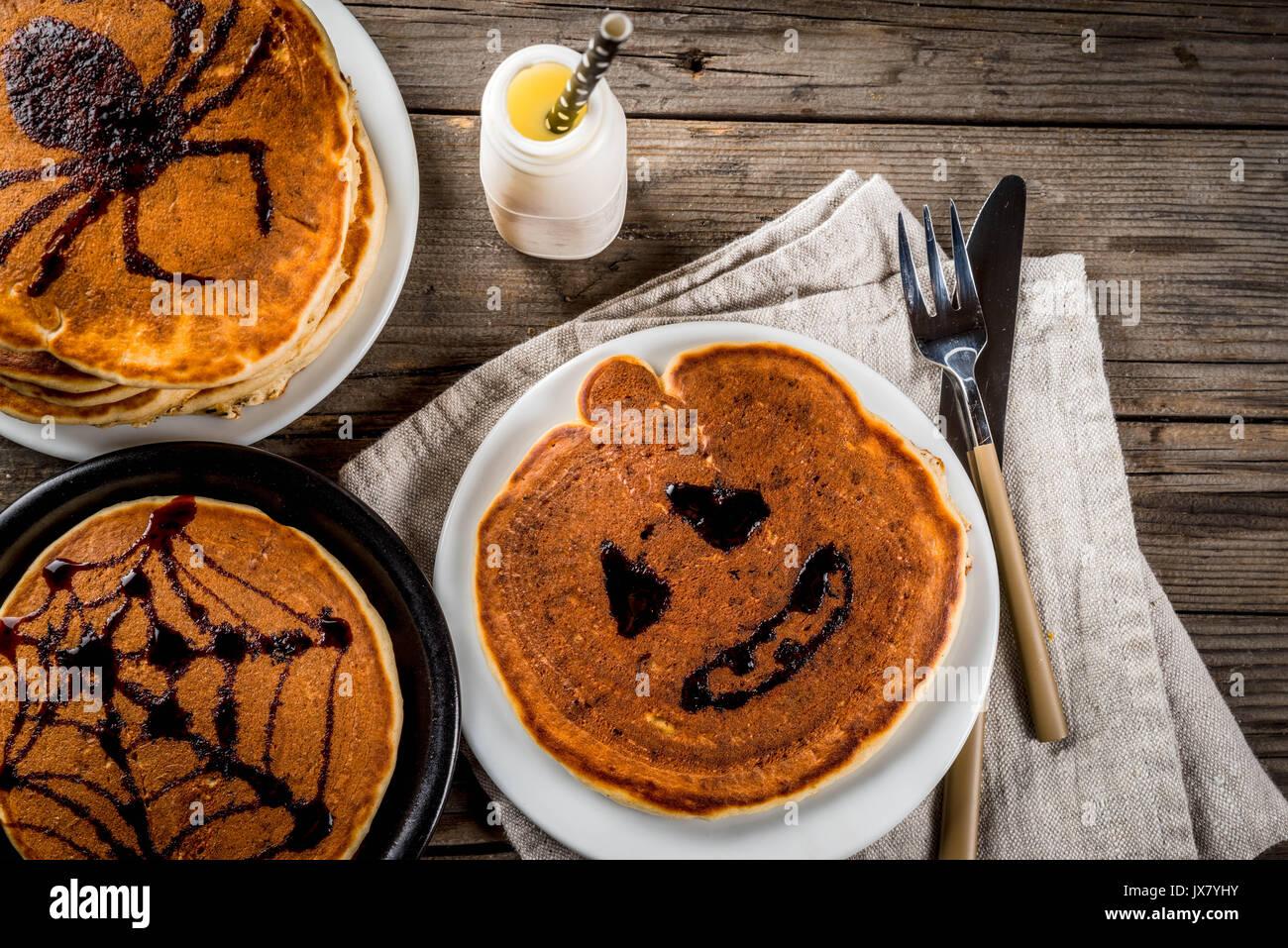 Ideen für Frühstück sind Halloween, Essen für Kinder. Pumpkin Pie ...