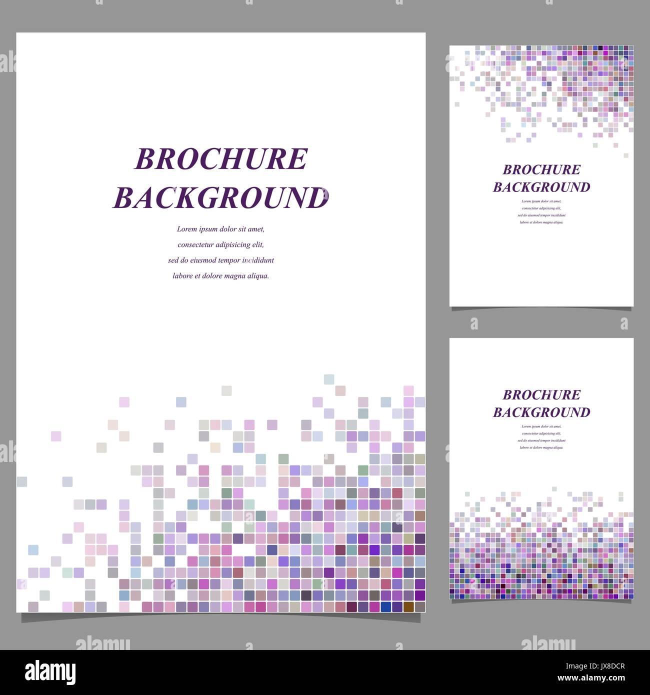 Farbenfrohe Abstrakte Fliesen Mosaik Broschure Vorlage Vektor