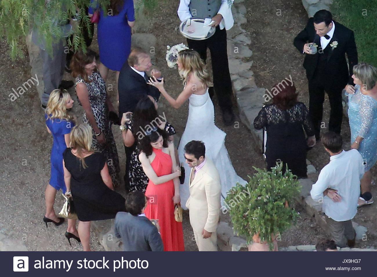 Jimmy Kimmel und Molly McNearney. Das Paar sagte, ihre Hochzeit ...