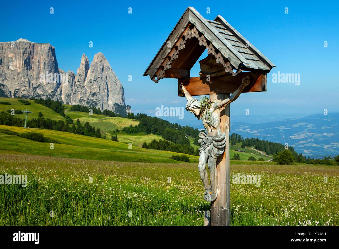 Seiser Alm, Dolomiten, Italien Stockbild
