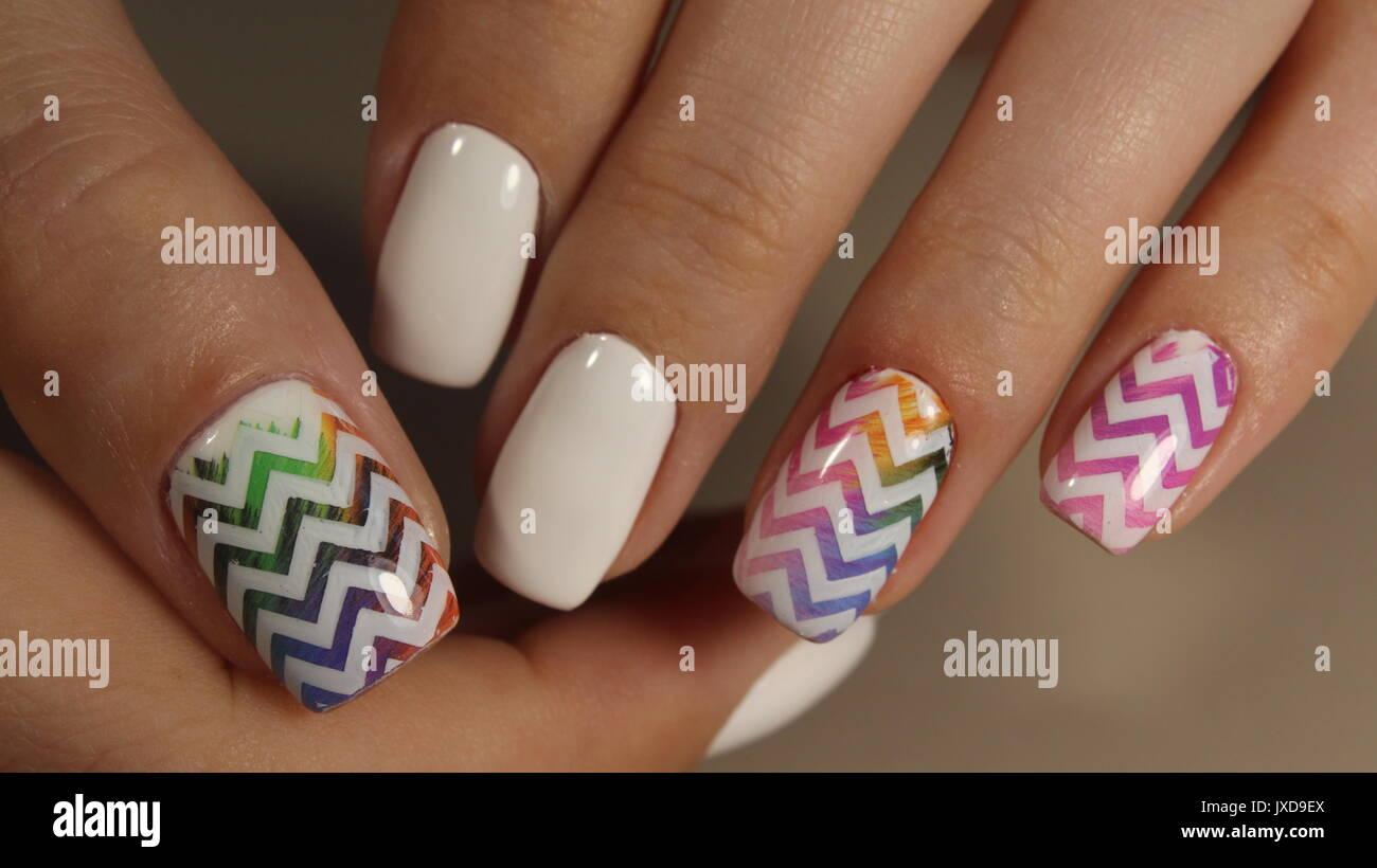Nail Design Stockfotos & Nail Design Bilder - Alamy